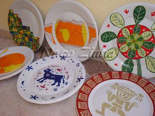 Pratos decorados Spoleto