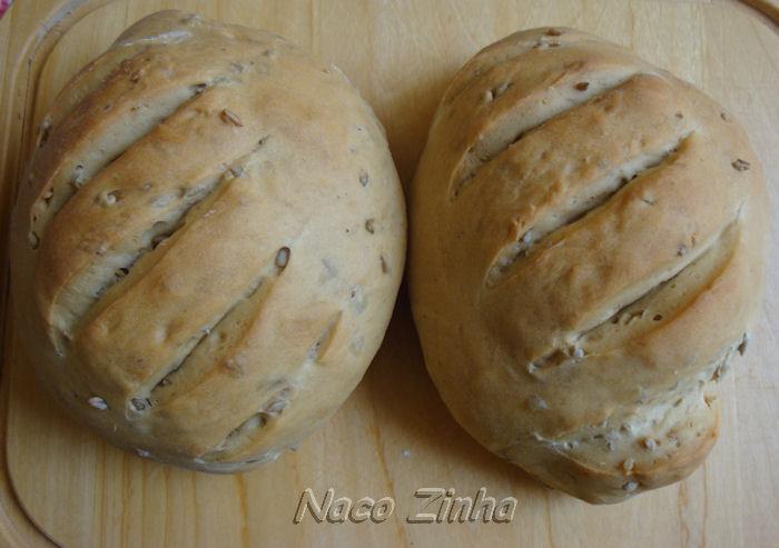 Pão com farinha de quinua