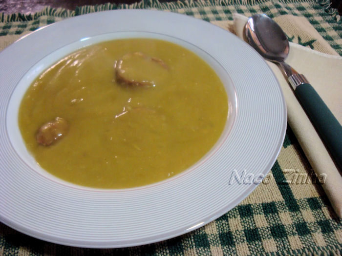 Sopa-creme de ervilha