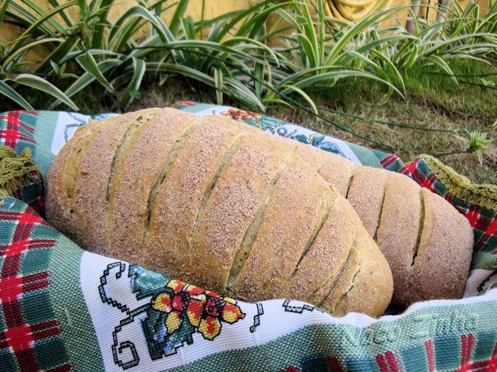 Pão de coco e cúrcuma