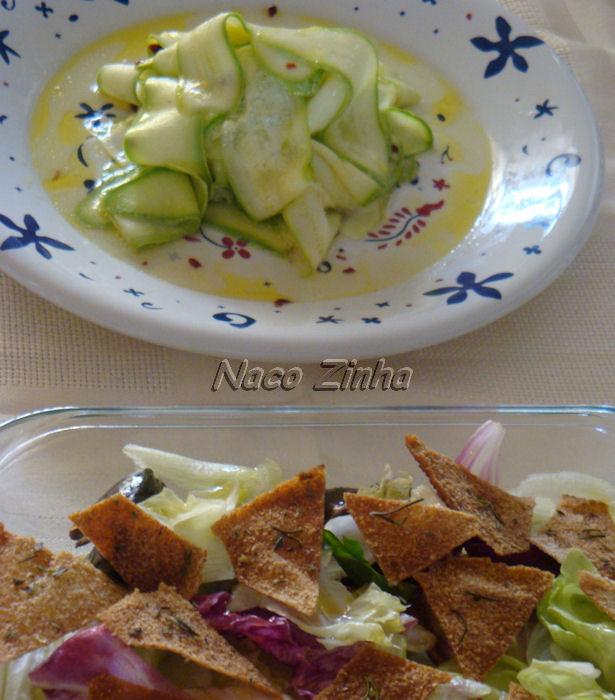 Salada de abobrinha crua