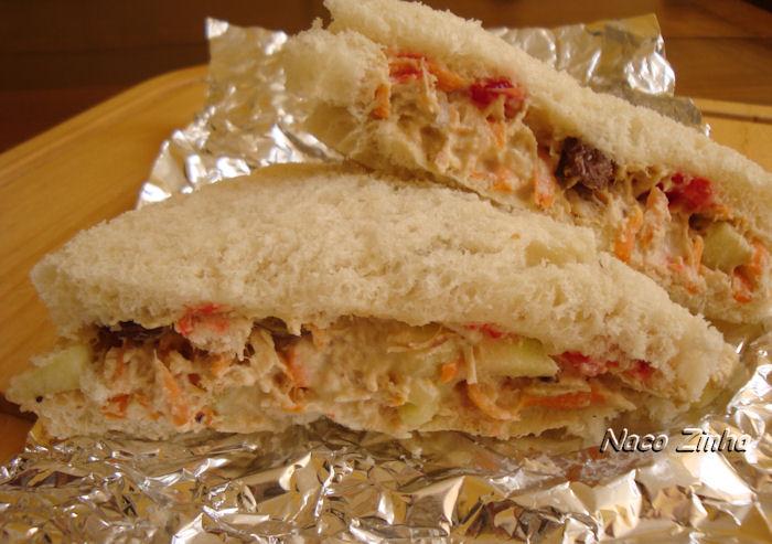 Sanduiche de salpicão