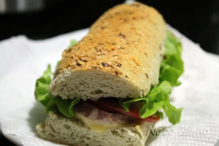 Pão tipo Subway
