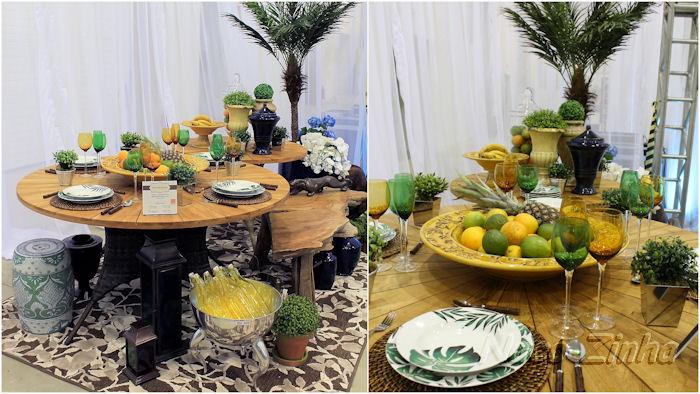 Feira Mundo Gastronômico - decoração de mesa brasileira