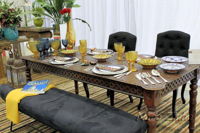 Feira Mundo Gastronômico - decoração de mesa espanhola