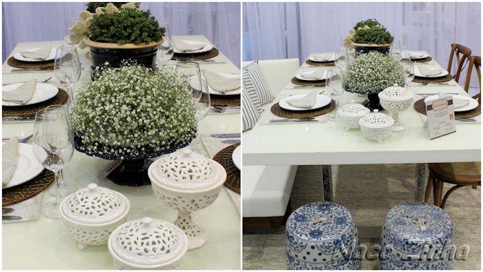 Decoração de mesas  na Feira Mundo Gastronômico