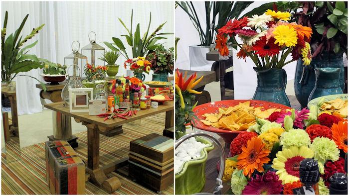 Feira Mundo Gastronômico - decoração de mesa mexicana