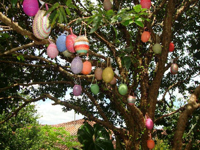 Ovos nas árvores
