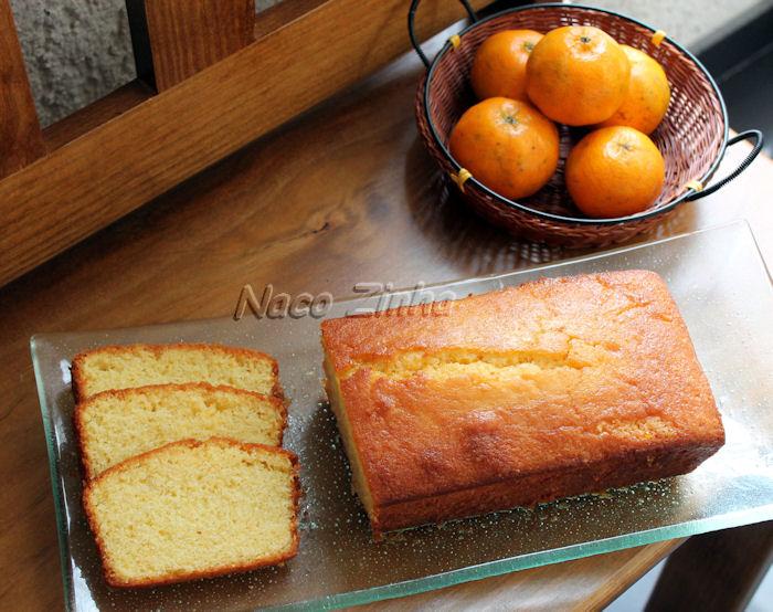 Bolo inglês de tangerina e limão
