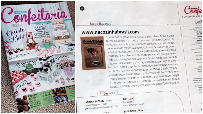 NacoZinha na Revista Arte da Confeitaria