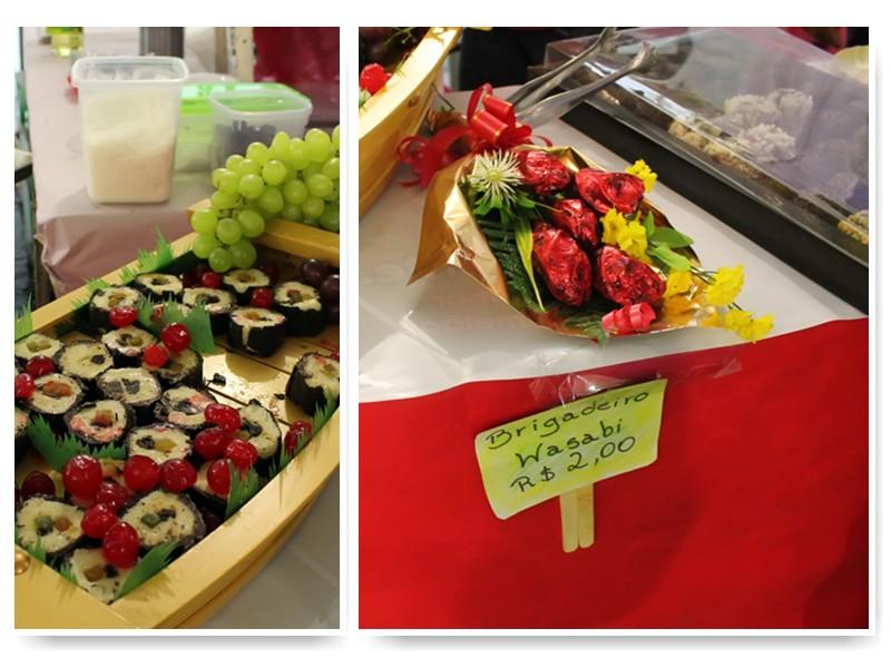 Sushi de trufa e brigadeiro de wasabi