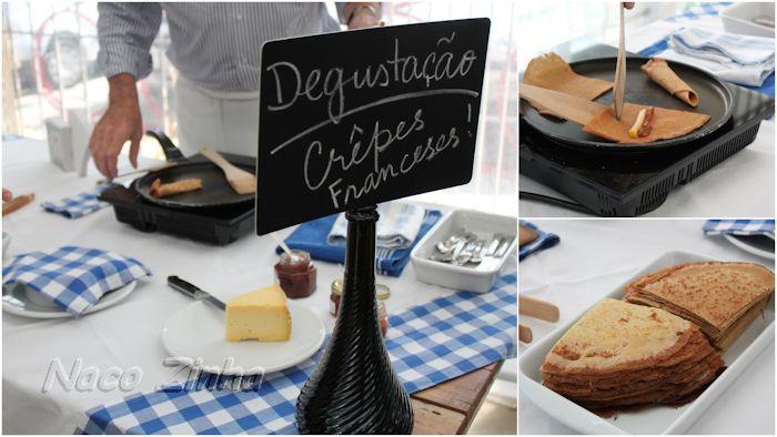Degustação de crêpes franceses - Mercado São Jorge