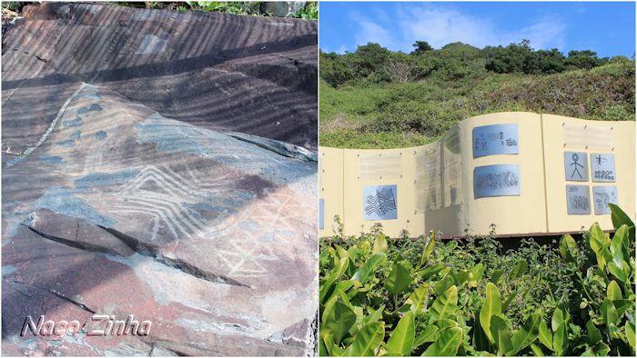 Inscrições rupestres - Praia do Santinho