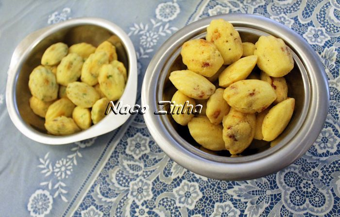 Madeleine de pistache e de tomate seco