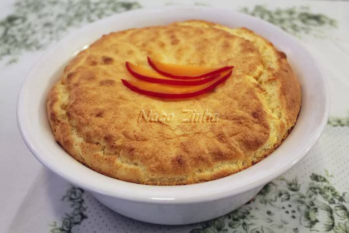 Suflê de queijo-reino