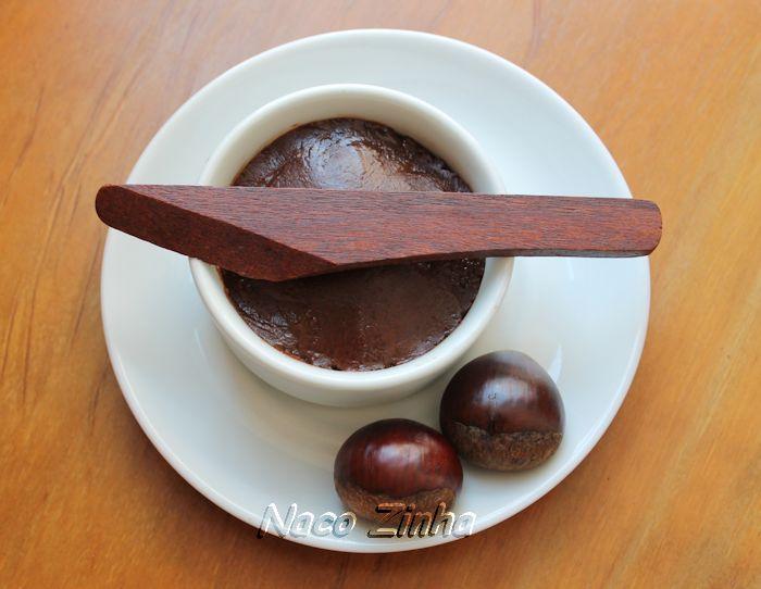 Creme de castanha portuguesa com chocolate