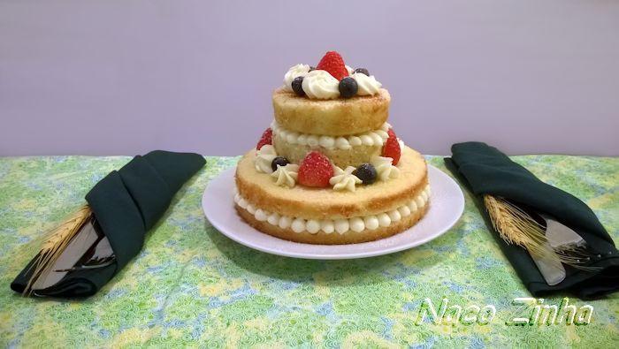 Naked cake de laranja e limão