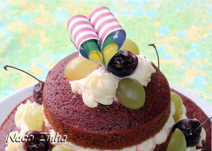 Topo de naked cake