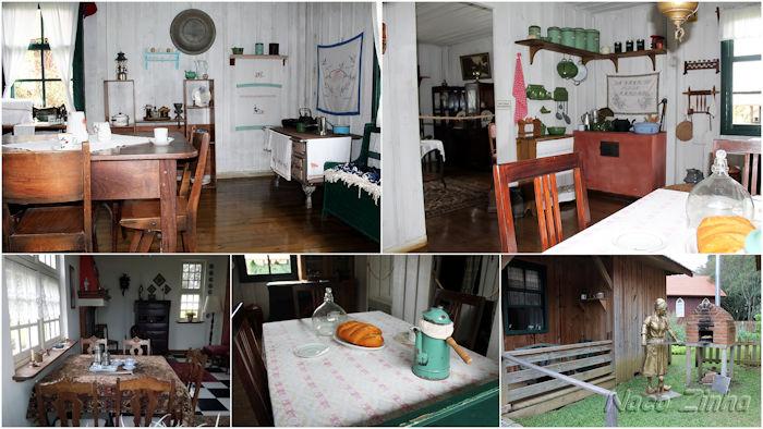 Parque Histórico de Carambeí - casas dos colonos