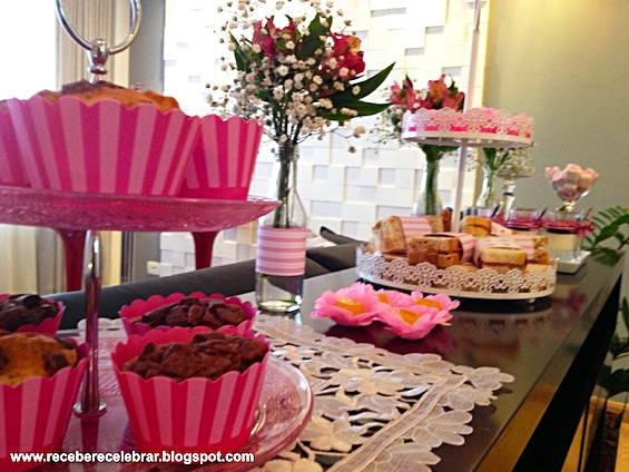 cha da tarde - cupcake rosa