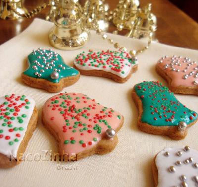 Biscoito com carinha de Natal