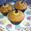 Muffin de banana e cranberry