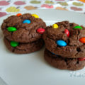 Cookies de chocolate M&M