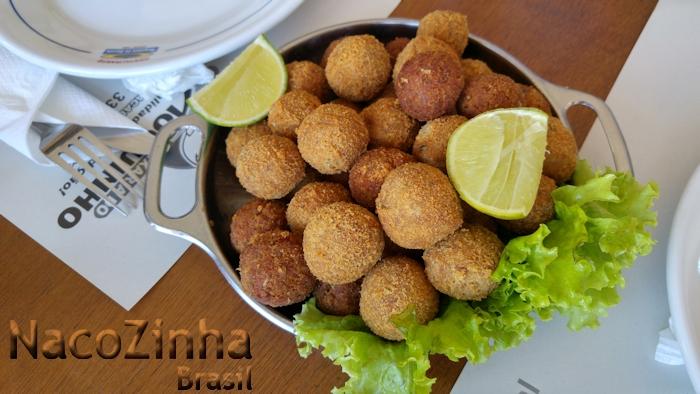 Bolinho de peixe do Restaurante Moqueca do Garcia