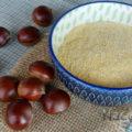 Como fazer farinha de castanha portuguesa