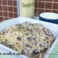 Espaguete com molho de cogumelos