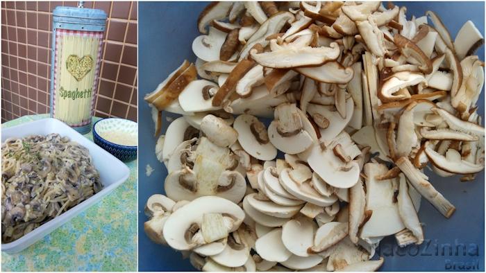 Espaguete com cogumelos - passo a passo