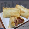 Pastel assado de carne seca e pinhão