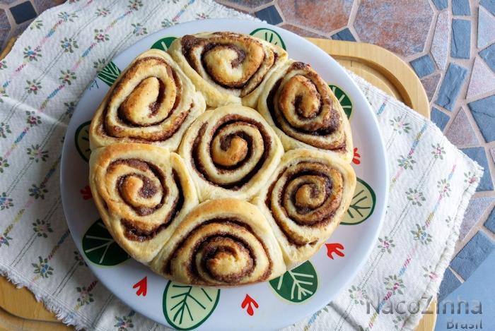 Rosca de canela (cinnamon roll)