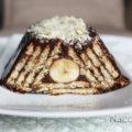 Torta trapézio de banana e chocolate