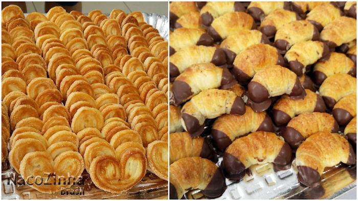 Padaria Benjamim - palmier e folhado com chocolate