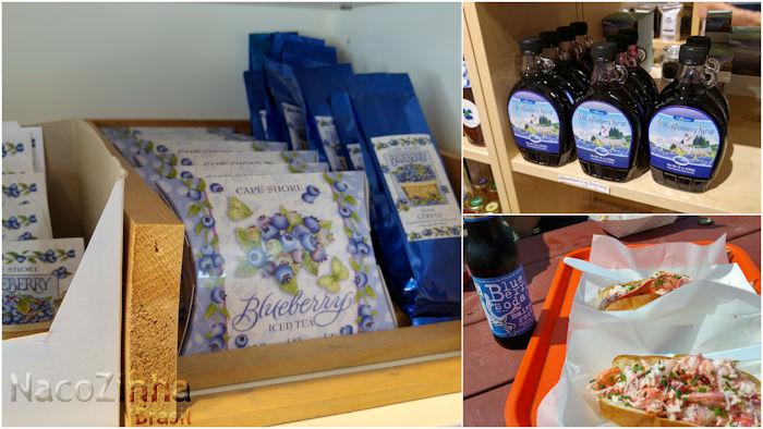 Blueberry syrup, iced tea, coffee e blueberry soda