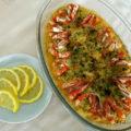 Escabeche de camarão assado