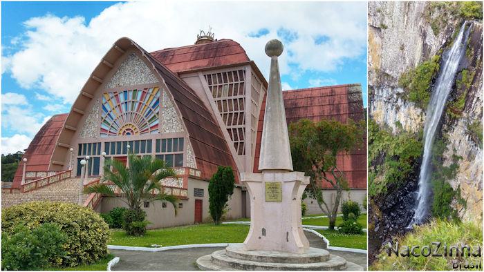 Urubici - Igreja N. Sra. Mãe dos Homens e Cascata do Avencal