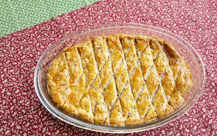 Torta de peru com massa folhada
