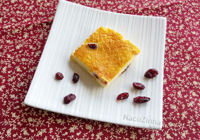 Torta de ricota e cranberries